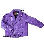 Artificialleatherjacket Johnny in purple for kids